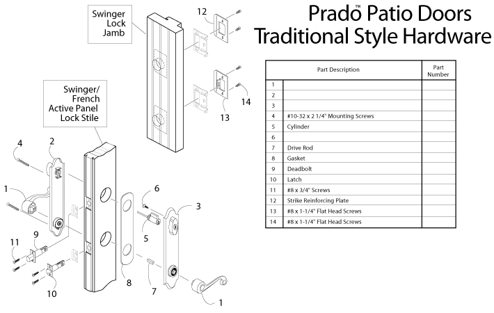 Peachtree Prado Swing Patio Door Handle Set Oil Rubbed Bronze Type Finish Pwdservice