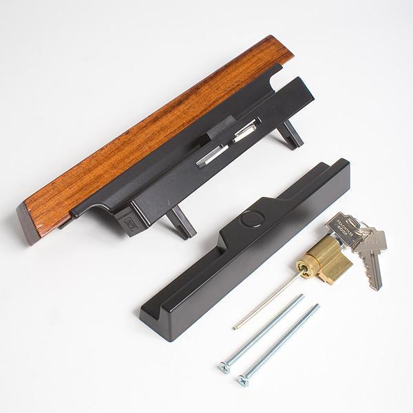 peachtree carvel sliding patio door handle set with key